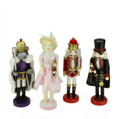 jcpenney.com | Wooden Nutcracker Suite Ballet Decorations- Set of 4