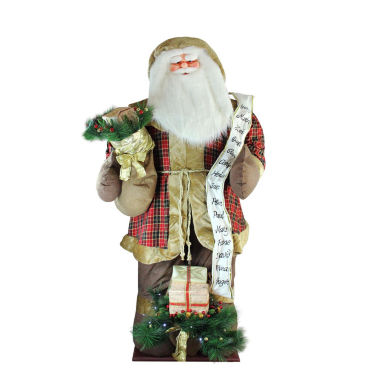 jcpenney.com | 8' Inflatable Musical Santa Claus Figurine with LED Lighted Gift Bag