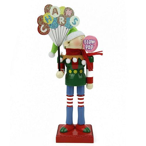 "11"" Prince Charms Blow-Pop Wooden Elf Figurine"