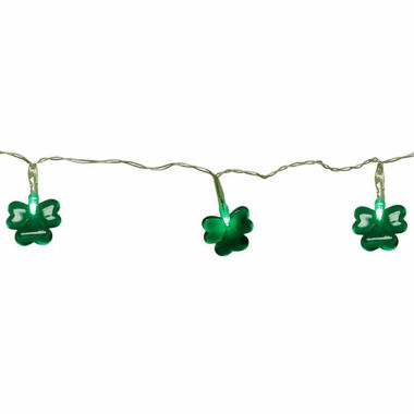 jcpenney.com | Set Of 20 Green LED Mini St Patrick'S Day Shamrock Lights With Timer with Clear Wire