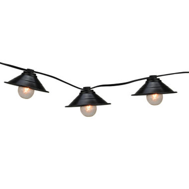 jcpenney.com | Set Of 10 Black Metal Pendant Lantern Patio Lights with Black Wire