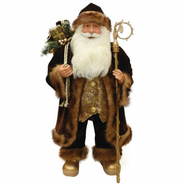 "jcpenney.com | 24"" Santa Claus Figurine With Staff"