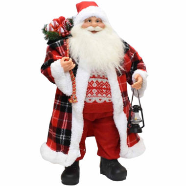 "jcpenney.com | 24.5"" Santa Claus with Checked Coat"