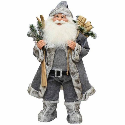 """24.5"""" Santa Claus with Skis & Presents"""