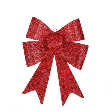 "jcpenney.com | 17"" LED Lighted Battery Operated Vibrant Red Bow Decoration"