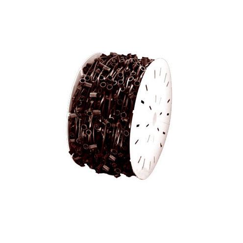 "1000' Commercial C9 Socket Sets Spool - 12"" Spacing Brown Wire"""