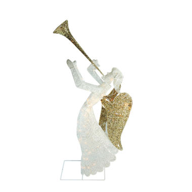 "jcpenney.com | 48"" Glittered Trumpeting Angel Lighted Yard Art"""