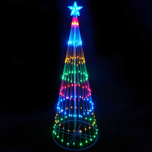 6' Multi-Color LED Lighted Show Cone Christmas Tree Yard Art