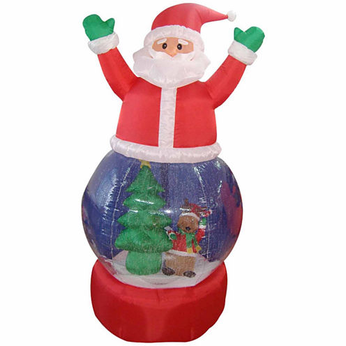 5' Inflatable Santa Claus Snow Globe Lighted YardArt