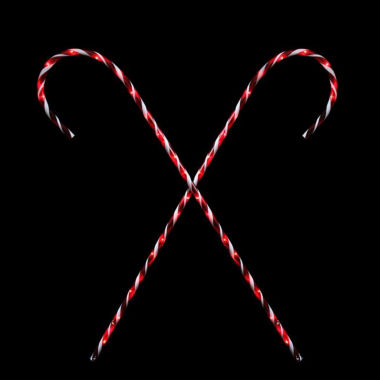 jcpenney.com | Set Of 2 Peppermint Twist Giant Lighted Candy CanePathway Markers Outdoor Christmas Decorations 60""