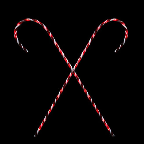 Set Of 2 Peppermint Twist Giant Lighted Candy CanePathway Markers Outdoor Christmas Decorations 60""