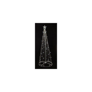 jcpenney.com | 9' Lighted Outdoor Christmas Cone Tree Yard Art with Clear Lights
