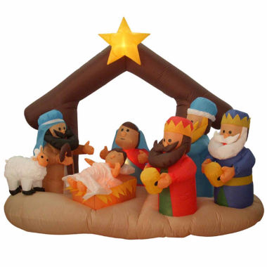 jcpenney.com | 6.5' Inflatable Nativity Scene Lighted Yard Art