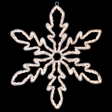 "jcpenney.com | 24"" Lighted White Hanging Snowflake Christmas Decoration with Clear Lights"""