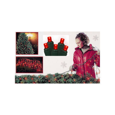 jcpenney.com | 4' X 6' Red Wide Angle LED Net Style Christmas Lights with Green Wire