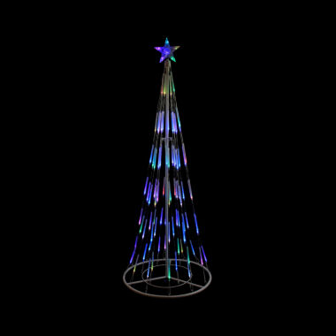 jcpenney.com | 6' White Double Tier Bubble Cone Christmas Tree Lighted Yard Art - Multi Lights