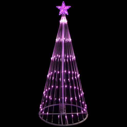 4' Pink LED Light Show Cone Christmas Tree LightedYard Art