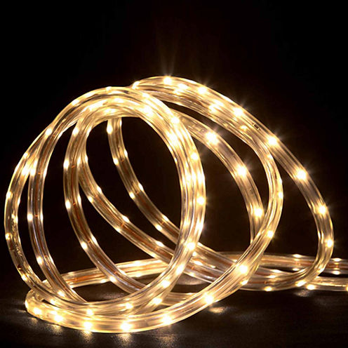 288' Commercial Grade Warm White LED Indoor/Outdoor Rope Lights On A Spool