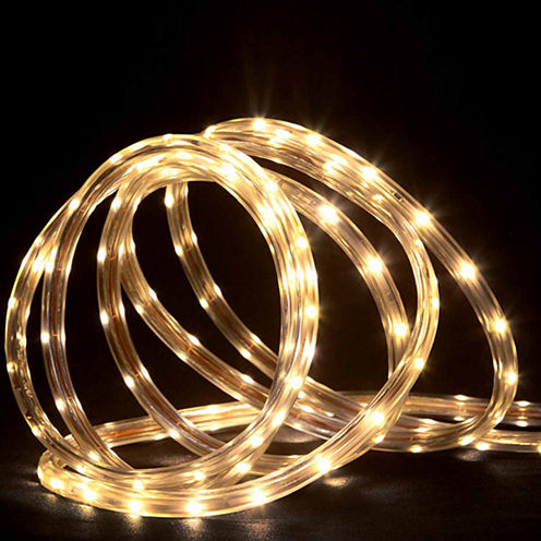 150' Commericial Grade Warm White LED Indoor/Outdoor Rope Lights On A Spool