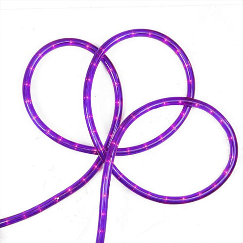 "18' Purple Indoor/Outdoor Rope Lights with 1"" Bulb Spacing"