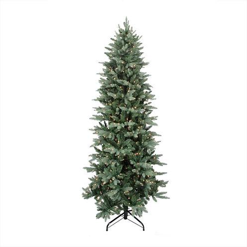 "12' X 62"" Pre-Lit Washington Frasier Fir Slim Artificial Christmas Tree with Clear Lights"""