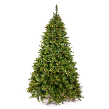 "jcpenney.com | 7.5' x 55"" Pre-Lit Cashmere Mixed Pine ArtificialChristmas Tree with Warm White LED Lights"""