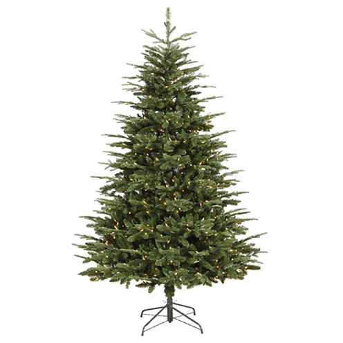 7' Pre-Lit Grantwood Pine Artificial Christmas Tree with Clear Lights
