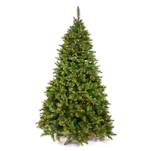 "9.5' x 67"" Pre-Lit Cashmere Mixed Pine ArtificialChristmas Tree with Warm White LED Lights"""