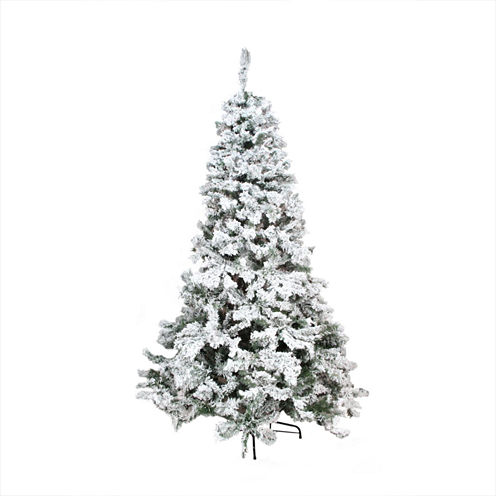 9' Heavily Flocked Pine Medium Artificial Christmas Tree - Unlit