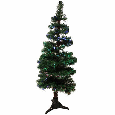 jcpenney.com | 5' Pre-Lit Fiber Optic Artificial Spiral Pine Christmas Tree - Multi Lights
