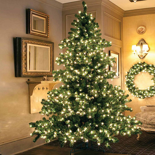 6.5' Pre-Lit Middleton Full Layered Artificial Christmas Tree with Clear Lights