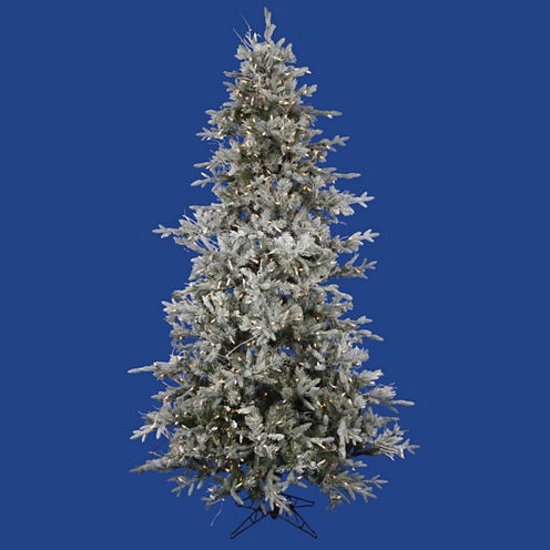 7.5' Pre-Lit Frosted Whistler Fir Artificial Christmas Tree with Clear Dura Lights