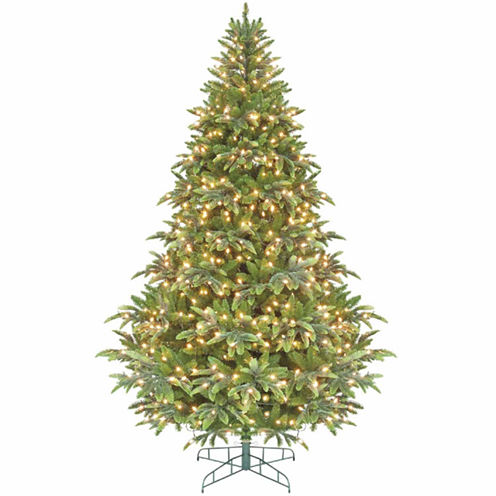 7.5' Pre-Lit Ready Shape Instant Power Cascade IPTChristmas Tree with Clear Lights