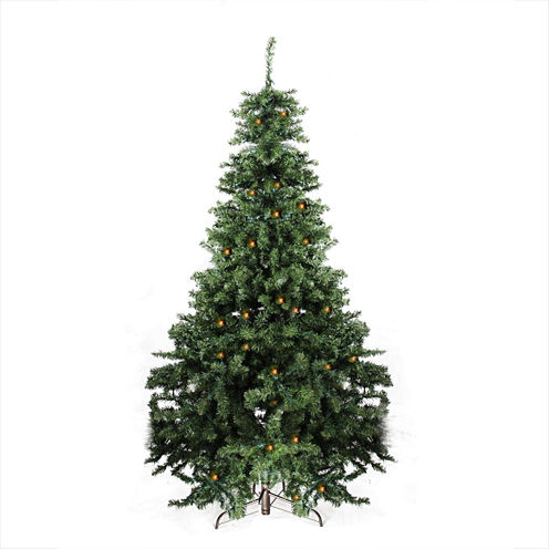 7' Pre-Lit Canadian Pine Artificial Christmas Tree- Candlelight LED Lights