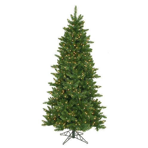 7.5' Pre-Lit Eastern Pine Slim Artificial Christmas Tree with Clear Lights