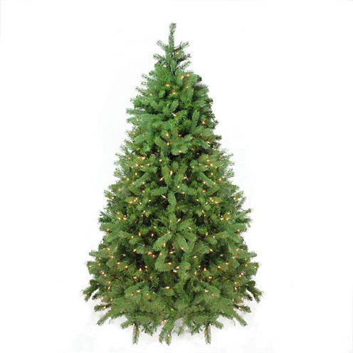 7.5' Pre-Lit Noble Fir Full Artificial Christmas Tree with Clear Lights
