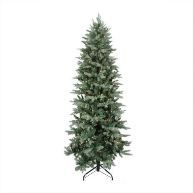 jcpenney.com | 7.5' Pre-Lit Washington Frasier Fir Slim Artificial Christmas Tree with Clear Lights