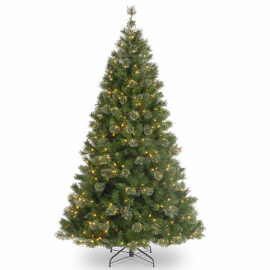 "jcpenney.com | 7.5' x 42"" Pre-Lit Atlanta Mixed Cashmere Pine Medium Artificial Christmas Tree with Clear Lights"""