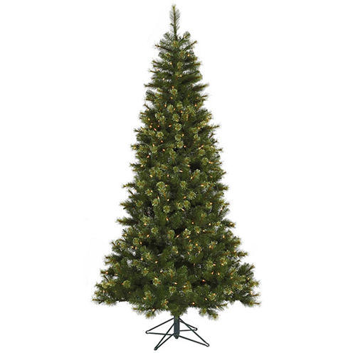 7.5' Pre-Lit Jack Pine Slim Artificial Christmas Tree with Clear LED Lights