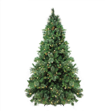 jcpenney.com | 7.5' Pre-Lit Single Plug Mixed Cashmere Pine SelfShape Artificial Christmas Tree with Warm White LED Lights