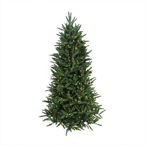 7.5' Pre-Lit PE/PVC Mixed Pine Multi-Function Artificial Christmas Tree with Remote Control -Clear/Multi