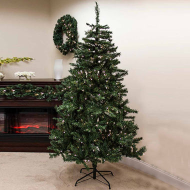 jcpenney.com | 7.5' Pre-Lit Traditional Mixed Pine Artificial Christmas Tree with Clear Lights
