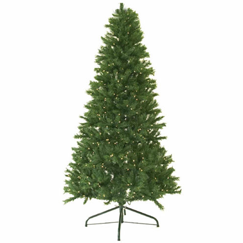 9' Pre-Lit Canadian Pine Artificial Christmas Treewith Clear Lights