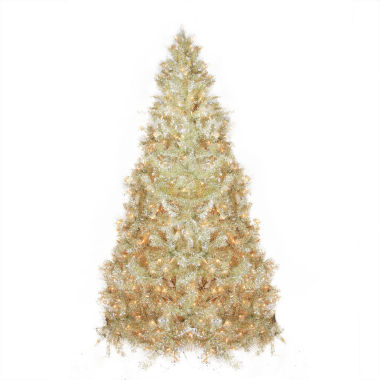 jcpenney.com | 9' Pre-Lit Sparkling Champagne Full Artificial Tinsel Christmas Tree with Clear Lights