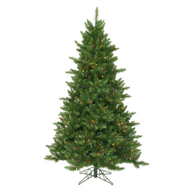 "jcpenney.com | 9' x 64"" Pre-Lit Northern Dunhill Fir Full Artificial Christmas Tree - Multi-Color LED Lights"""