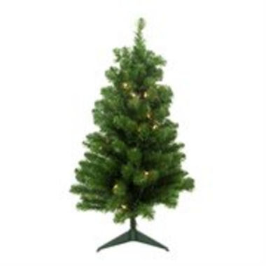 "jcpenney.com | 4' x 25"" Pre-Lit Noble Pine Artificial Christmas Tree with Clear Lights"""