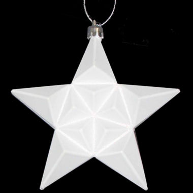 "jcpenney.com | 12 Ct 5"" Matte Winter White Glittered Star Shatterproof Ornaments"""