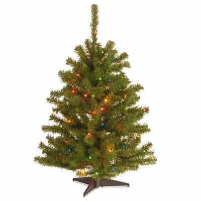 national tree co 3 foot eastern spruce pre lit christmas tree