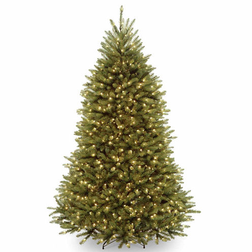 National Tree Co. 7 1/2 Foot Dunhill Fir Hinged Pre-Lit Christmas Tree