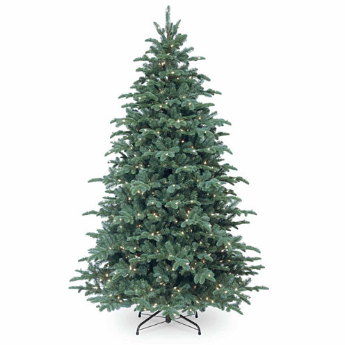 National Tree Co. 7 1/2 Foot Mountain Noble Blue Spruce Pre-Lit Christmas Tree